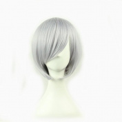 MOCOO High Quality Short Straight Hair Bob Wig Fashion Ladies Cosplay /Party Costume Wig(Grey)JF003GY