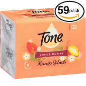 (PACK OF 59 BARS) Tone Soap Bath Bar, Mango Splash. COCOA BUTTER, BOTANICALS & VITAMIN-E. Rich & Creamy Lather! Great for Hands, Face & Body!