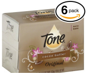 (PACK OF 6 BARS) Tone Soap Bath Bar, Original Scent. COCOA BUTTER, BOTANICALS & VITAMIN-E. Rich & Creamy Lather! Great for Hands, Face & Body!