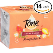 (PACK OF 14 BARS) Tone Soap Bath Bar, Mango Splash. COCOA BUTTER, BOTANICALS & VITAMIN-E. Rich & Creamy Lather! Great for Hands, Face & Body!