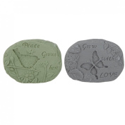 Lily's Home Shea Butter Enriched Scented Guest Soap Gift Set - Includes Two Stone Look Soap Bars