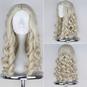 Miss U Hair Alice White Queen Wig Women Girl's Long Blonde Curly Movie Cosplay Wig