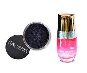 ITAY Minerals Cosmetics Glitter Powder Eye Shadow G-31 Femme Fatale + Liquid Sparkle Bond