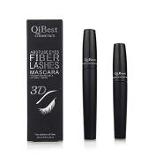 Qibest 3d Fibre Lashes Cosmetics Black Double Lash Eyelash Waterproof 2015 New Mascara