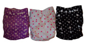 Naughty Baby Minky Washable Adjustable Cloth Pocket Nappies with Inserts Girl Variety Pack