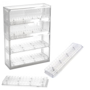 Bead Pavilion Showcase with 2 Round and 2 Flip Top Shelves