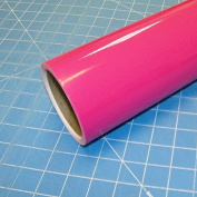 30cm x 3m Roll of Glossy Oracal 651 Pink Vinyl for Craft Cutters and Vinyl Sign Cutters