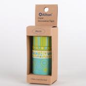 GoWashi Decorative Washi Tape, Designer's Choice, Yellow-Green POP