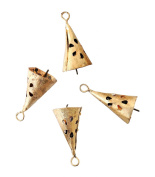 Noonpa Hand Made Golden Conical Bells With Cut Design