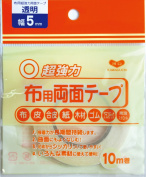 KAWAGUCHI super strong fabric for double-sided tape transparent 10m width 5mm 94-002