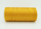 OLD GOLD 0.6mm 100% Nylon Twisted Cord Thread Micro Macrame Beading Knitting Crochet Needle Crafts