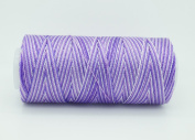 VARIEGATED LAVENDER 0.6mm 100% Nylon Twisted Cord Thread Micro Macrame Beading Knitting Crochet Needle Crafts