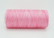 VARIEGATED PINK 0.6mm 100% Nylon Twisted Cord Thread Micro Macrame Beading Knitting Crochet Needle Crafts