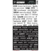 Documented Faith Clear Stickers 15cm x 30cm -Word Strip
