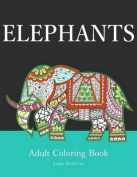 Elephants: Adult Coloring Book