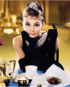 Audrey Hepburn Breakfast At Tiffnay's Dinning Colour 8 x 10 Photo Photograph