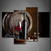 Wall art painting Wine And Fruit With Glass And Barrel Wall Art Painting Pictures Print On Canvas Food The Picture For Home Modern Decoration