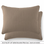 Southshore Fine Linens® Set of Two Decorative Quilted Pillow Covers