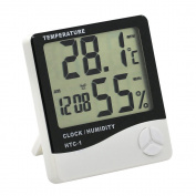 Digital LCD Hygrometer Thermometer Temperature Humidity Metre Alarm Clock Indoor