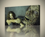 THE WALKING DEAD Zombies CANVAS PRINT Wall Art Decor Giclee *4 Sizes* CA119, Small