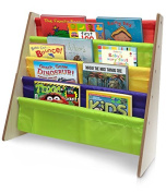 Sorbus® Kids Bookshelf - Bright Primary Colour Pockets Toddler Bookcase