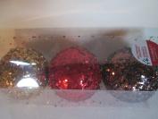 Asst Ribbed Shatterproof Ornaments 3 Per Box