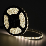 elcPark 5m/16.4ft Water proof IP65 Daylight White SMD5630 Flexible LED Strip Light/Rope Lights with Adhensive 300LED 60LED/M DC 12V 5A 60W
