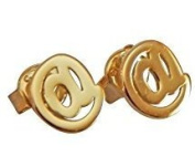 Beaute Fashion .925 At (@) Sign Twitter Stud Earrings Sterling Silver At Symbol - Gift Boxed