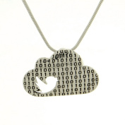 Cloud 925 Sterling Silver Bird It Computer Pendant Necklace Chain