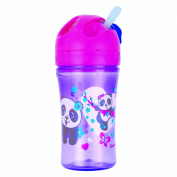 Gerber Graduates Advance Easy Straw Cup with Seal Zone Technology, 300ml, Girl Colours