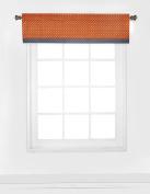 Bacati Playful Foxs Window Valance, Orange/Grey