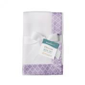 BreathableBaby Deluxe Modal Knit Baby Blanket, Lavender