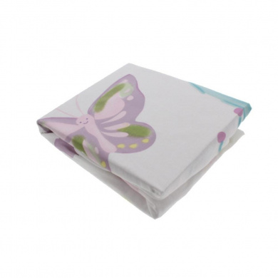 Truly Scrumptious by Heidi Klum Butterfly Wonderland Baby Girl Crib Sheet Multi
