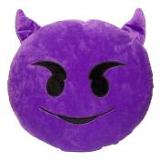 32cm QQ Emoji Emoticon Purple Round Cushion Pillow Stuffed Plush Soft Doll Toy Demon