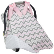 Caught Ya Lookin S316-334-103-R5 Car Seat Cover, Grey & Pink Chevron
