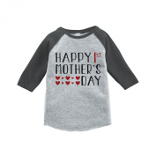 Custom Party Shop Boy's 1st Mother's Day Vintage Baseball Tee