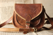 Handmade Craft 23cm X 18cm Brown ,Genuine Leather Women's Bag /Handbag / Tote/purse/ Shopping Bag
