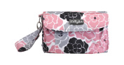 Nat and Jules Pink Floral Nappy Clutch