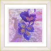 Zhee Singer 'Purple Sophia Flower' White Print