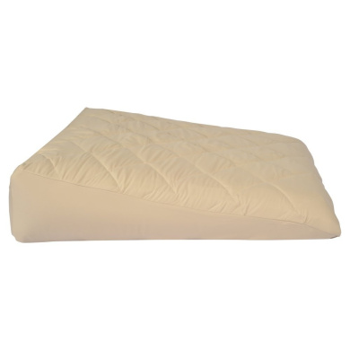 Small-Size Acid Reflux Bed Wedge Pillow, Inflatable, w/Soft Peach Skin Custom Fitted Cover, (80cm L,80cm W,20cm H)