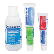 Xerostom Anticavity Mouthwash, Anticavity Toothpaste, and Saliva Substitute Gel Pack