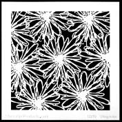 15cm x 15cm Scribble Blooms Stencil by Terri Stegmiller