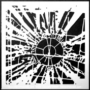 15cm x 15cm Sunburst Stencil by Daniella Woolf