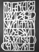 23cm x 30cm Letter Mania Stencil by Suzi Dennis