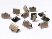 Gauze and workshop race fasteners, straps fastened 10 pieces (10mm 1cm) bracket for sepia colour Yoshi Kaneko metal plating handicraft materials handicraft material parts race tag