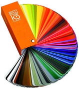 "RAL K5 gloss version colour chart ""RAL regular article, there is anti-counterfeit labels,"" ""parallel imports"" W & B"