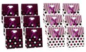 Gift Box Bags Polka Dot 6 x 5 x 5.1cm - 1.3cm Set of 12