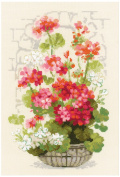 Riolis cross stitch kit STICKPACKUNG STICK PACK 1503 Geranium flowers