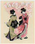 Riolis cross stitch kit STICKPACKUNG 1508 Cherry Blossom Japan