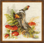 Riolis cross stitch kit 1545 Stump with Fly Agaric STICKPACKUNG
